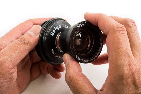 Attaching the Holga Fisheye Lens for the Instax 8