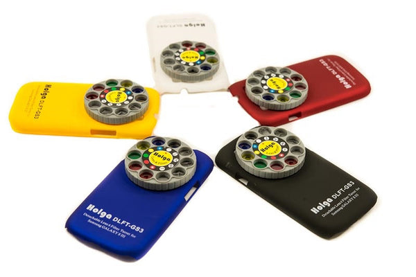 Holga Samsung Galaxy S3 Lens Filter and Case in 5 different colours