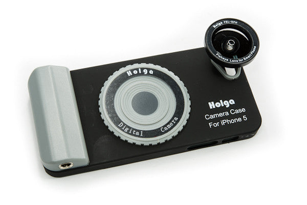 Holga iPhone Case with Fisheye Lens attached