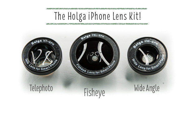 The Holga iPhone Lens Kit - Fisheye, Wide and Telephoto