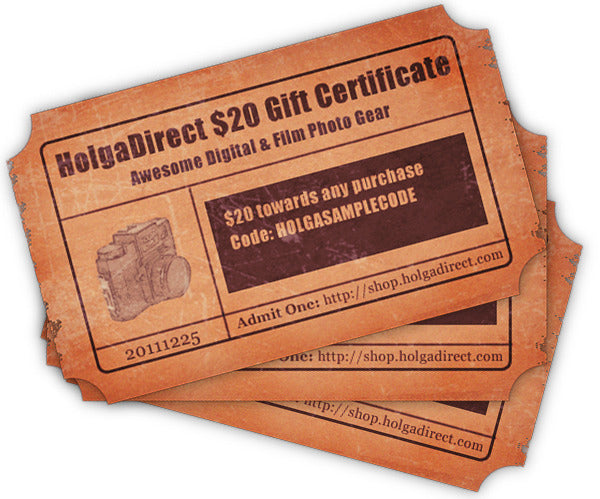 HolgaDirect Gift Certificate