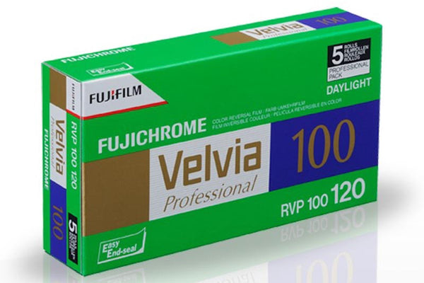 FujiFilm Velvia 100 (120) Color Slide Film