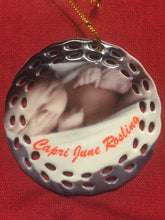 "Load image into Gallery viewer, 3"" Porcelain Wreath Christmas Ornament"