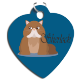 Sublimatable Aluminum Heart Pet Tag
