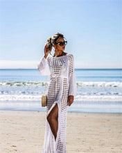 Load image into Gallery viewer, Wholesale White Sexy Empire Hollow Beach Cover-ups Dress