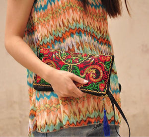 Wholesale Ethnic Style Retro Embroidered Bag