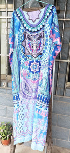 Casual Loose Boho Round-neck Beach Maxi Dress Cover-ups
