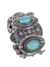 Load image into Gallery viewer, Wholesale Vintage Ethnic Style Alloy Plated Ancient Silver Turquoise Bracelet