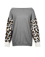 Load image into Gallery viewer, Wholesale Original Design Women's Autumn/winter New Fashion Hit Color Stitched Leopard Print Sweater