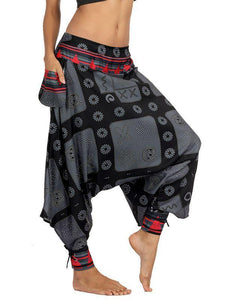 Wholesale Printed Beam Loose Large Size Bloomers Pants
