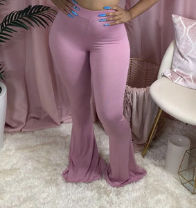 Wholesale Solid Sex Big Size Women's Fashion Hot Sale Casual Tight Big Horn Trousers