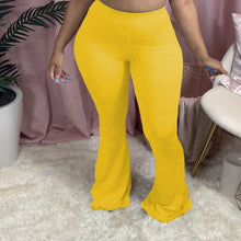Load image into Gallery viewer, Wholesale Solid Sex Big Size Women's Fashion Hot Sale Casual Tight Big Horn Trousers