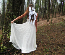Load image into Gallery viewer, Wholesale White Feather Bohemian Wedding Bride Headwear