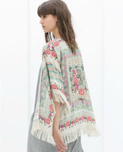 Load image into Gallery viewer, Casual Floral Loose Cardigan Summer Jacket Tops