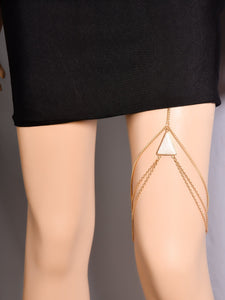 Wholesale Wild Personality Geometric Turquoise Multi-Layer Leg Chain