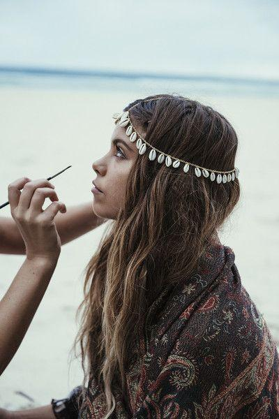 Wholesale Bohemian Shell Chain Hair Accessories Headwear