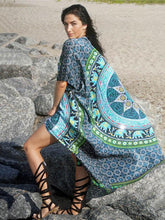 Load image into Gallery viewer, Casual Beach Vacation Bohemia Printed Half Sleeve Cover-up Tops