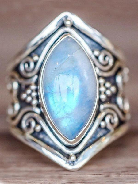 Wholesale  Vintage Moonstone Exaggerated Ring Jewelry