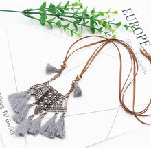 Load image into Gallery viewer, Wholesale Vintage Boho Bohemian Ethnic Statement Tassel Pendant Necklace