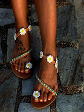 Load image into Gallery viewer, Summer Beach Flower Flat Sandals For Women