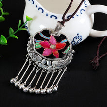 Load image into Gallery viewer, Wholesale Embroidery Necklace Sweater Chain Retro Pendant