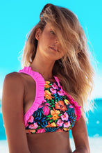 Load image into Gallery viewer, Sexy Floral Printed Beach Two Pieces Bikini Swimsuit