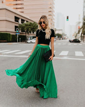 Load image into Gallery viewer, Solid Color High Waist Pleated Long Maxi Skirt