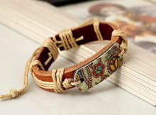Load image into Gallery viewer, Leather Bracelet Men And Women Jewelry Heat Transfer Peace Sign Bracelet
