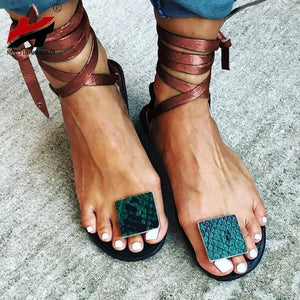 Wholesale Nude Straps Rome Sandals Women Flat Sandals  Women's Shoes