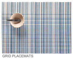 Chilewich Grid Placemat Collection at www.vertigohome.us