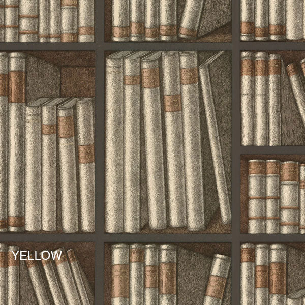 Cole & Son Fornasetti Ex Libris Wallpaper in Yellow - Vertigo Home