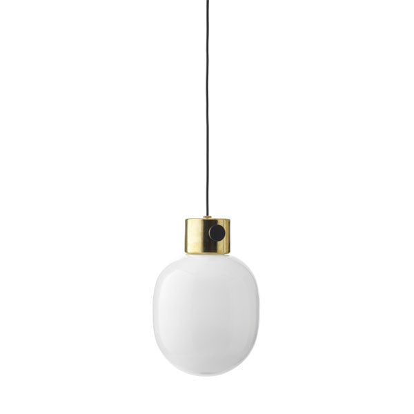 JWDA Metallic Pendant Mirror Polished Brass by Jonas Wagell for Menu