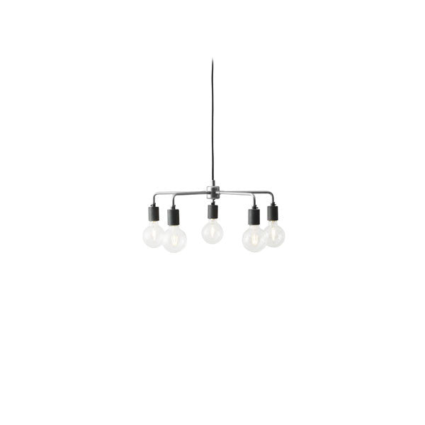 Tribeca Leonard Chandelier Brushed Steel by Søren Rose for Menu