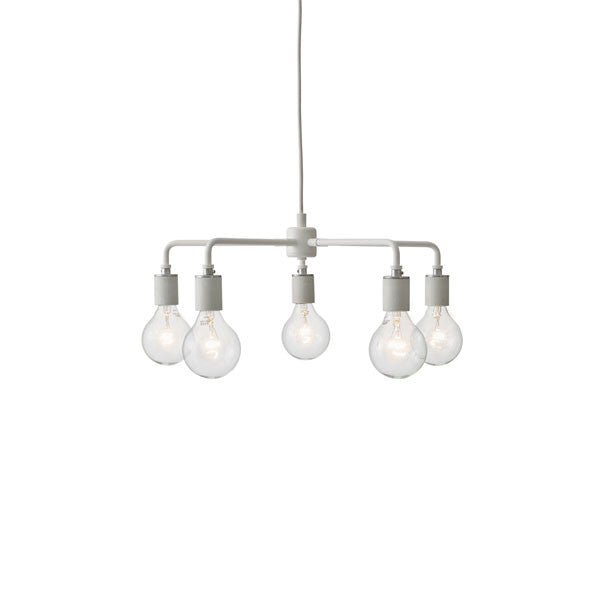 Tribeca Leonard Chandelier White by Søren Rose for Menu