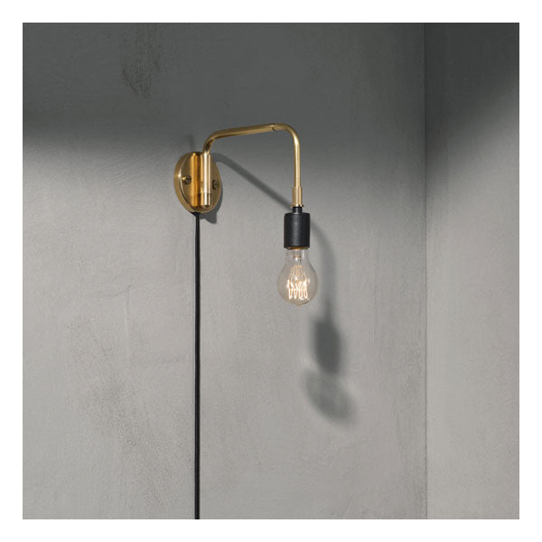 Tribeca Staple Wall Lamp Brass by Søren Rose for Menu