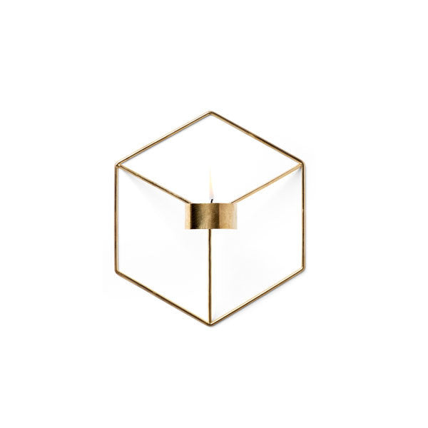 Brass POV Wall Candleholder by Note for Menu - Vertigo Home