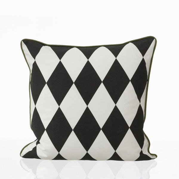 Large Geometry Cushion - Petrol by Ferm Living - Vertigo Home