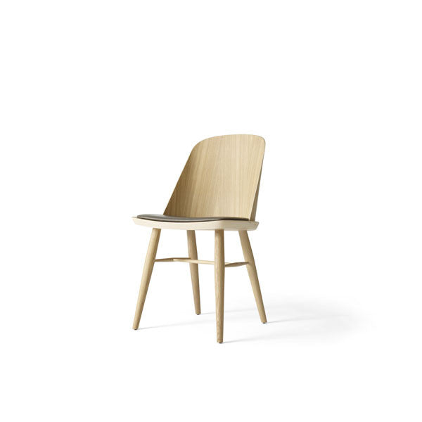 "Synnes Dining Chair Natural Oak with Carbon ""Silk"" Leather by Falke Svatun for Menu - Vertigo Home"