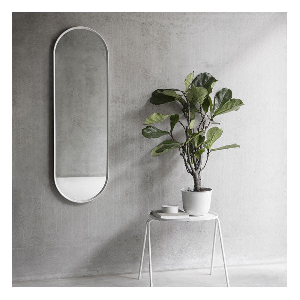 Norm Oval Wall Mirror White by Norm Architects for Menu - Vertigo Home