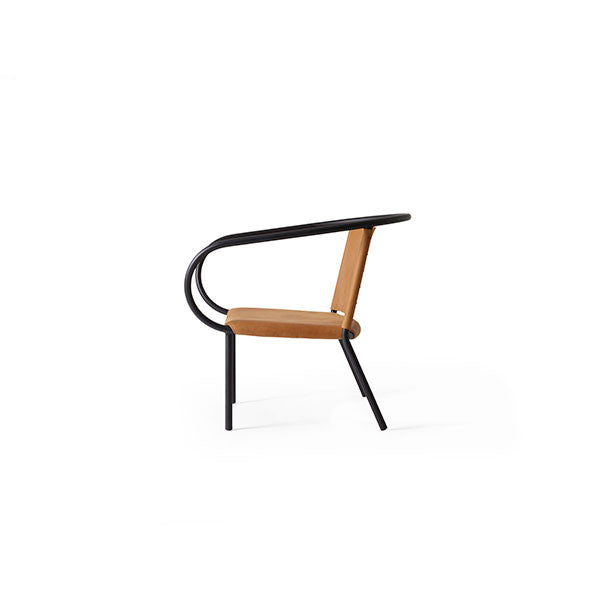 Afteroom Lounge Chair Black with Cognac Leather by Afteroom for Menu