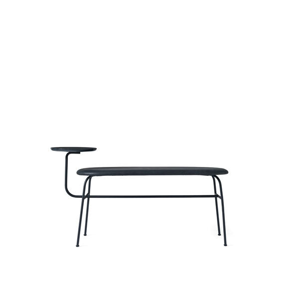 Afteroom Bench Black with Black Dunes Leather by Afteroom for Menu - Vertigo Home