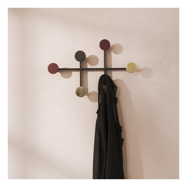 Afteroom Coat Hanger Black/Brass by Afteroom for Menu