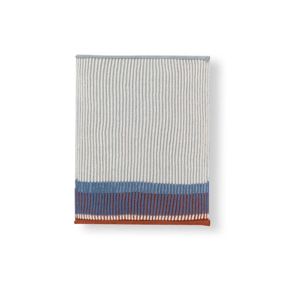 Akin Knitted Dish Cloth Set Dull Blue by Ferm Living
