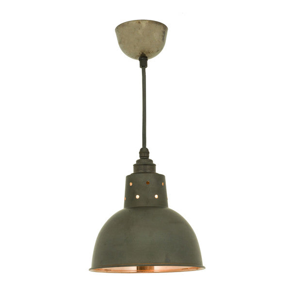 Spun Reflector with Cord Grip Lampholder Pendant by Original BTC / Davey Lighting - Vertigo Home
