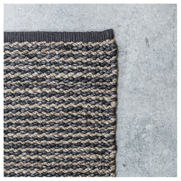 Pewter & Charcoal Kalahari Weave Rug by Armadillo&Co