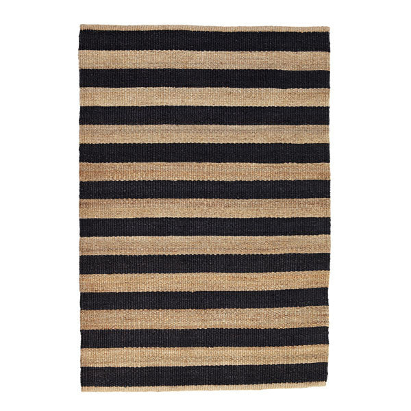 Charcoal Nest Weave Awning Stripe Rug by Armadillo&Co - Vertigo Home