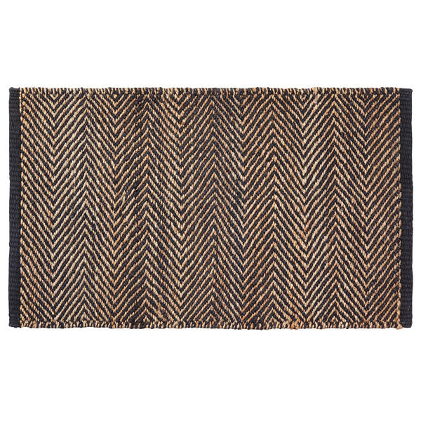 Charcoal & Natural Serengeti Weave Entrance Mat by Armadillo&Co - Vertigo Home