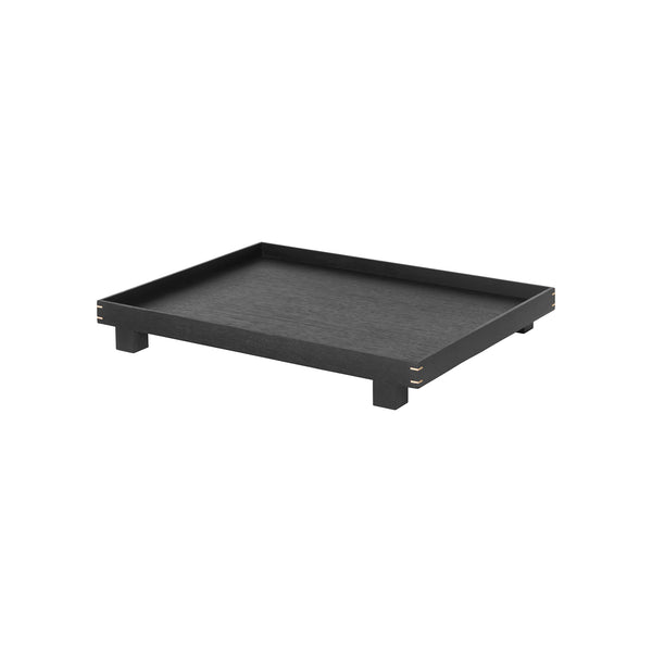 Bon Wooden Tray Large - Black Stained Oak by Ferm Living