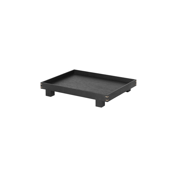 Bon Wooden Tray Small - Black Stained Oak by Ferm Living