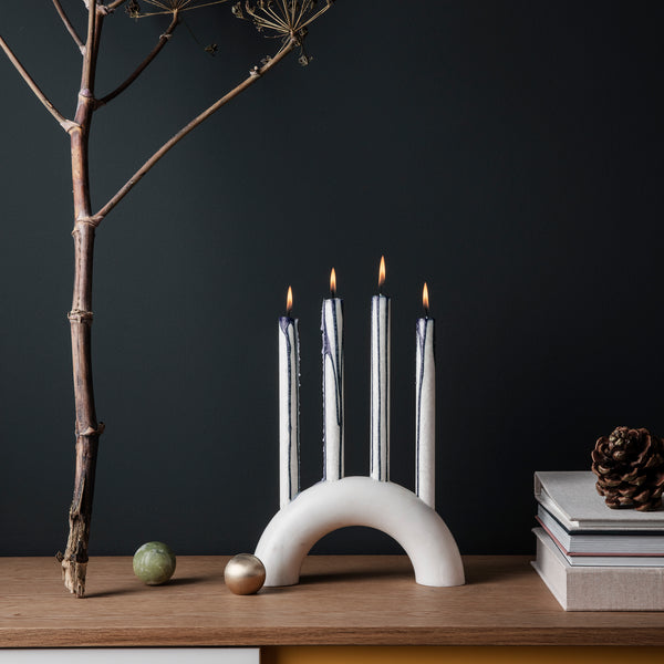 Bow Candle Holder White by Ferm Living